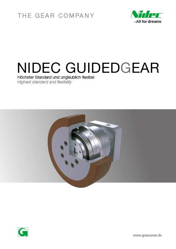Nidec GuidedGear Transportsystem Getriebe